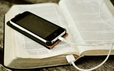 Bible with Cell Phone